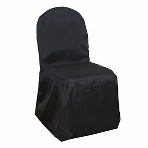black chair covers ebay rectangle kitchen table and chairs 100 pcs polyester banquet wedding reception party image is loading
