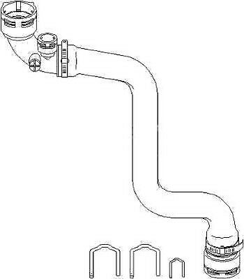 Radiator Hose Top Upper Left Fit BMW 3 Series E46 1998