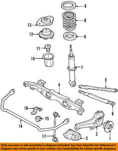 mini cooper suspension diagram spotlight wiring hilux oem 02 13 rear strut mount 33526754123 ebay image is loading