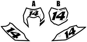 Fits KTM 350 XCF-W 2014-2016 Pre-Printed White Backgrounds