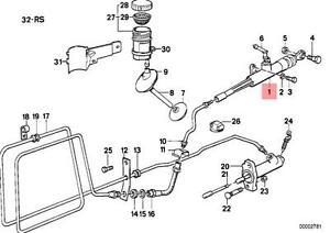 Genuine BMW E31 E32 E34 Z1 Coupe Clutch Input Master