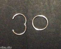 Solid 925 Sterling Silver Hoop Sleepers Earrings: 5 sizes ...