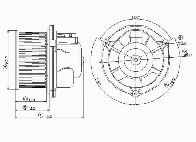 Global Parts Distributors 2311261 New Blower Motor Without