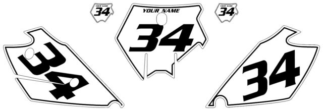 Fits KTM 200 SX 2003-2004 Pre-Printed White Backgrounds