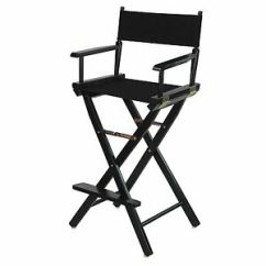 Tall Director Chair Professional Massage Directors 30 In Canvas Seat Wood Folding Stylist Portable Image Is Loading