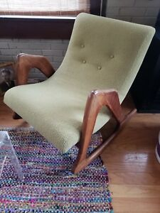 adrian pearsall rocking chair target glider cushions mid century modern ebay image is loading