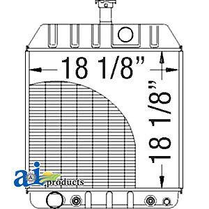 A-579337M92 Massey Ferguson Parts RADIATOR (3 7/16