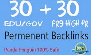 30 PR9 & 30 EDU GOV High PR SEO Backlinks from TOP Authority Domains , Indexing