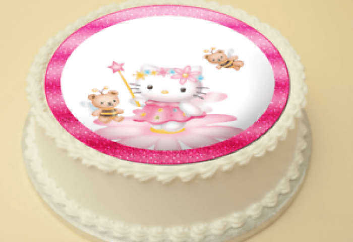 Hello Kitty Edible Cake Cupcake Topperdecoration Wafer Paper