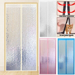 details about magnetic thermal insulated door curtain anti bug insect reduce noise for kitchen