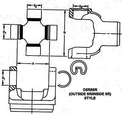 Universal Joint fits 1988-1995 Pontiac Firebird DANA