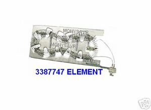 NEW 3387747 OEM FSP WHIRLPOOL DUET DRYER ELEMENT KENMORE