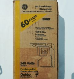 ge air conditioner disconnect switch tf60rcp 60 amp 240v for sale online ebay [ 1200 x 1600 Pixel ]