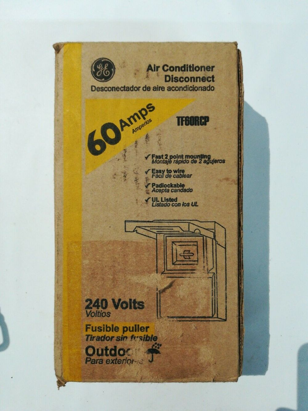 medium resolution of ge air conditioner disconnect switch tf60rcp 60 amp 240v for sale online ebay