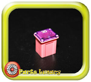 30 Amp Pink Ultra Micro Fusible Link Fuse Short Low