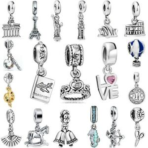 European Famous Building Charms Pendant New Jewelry For