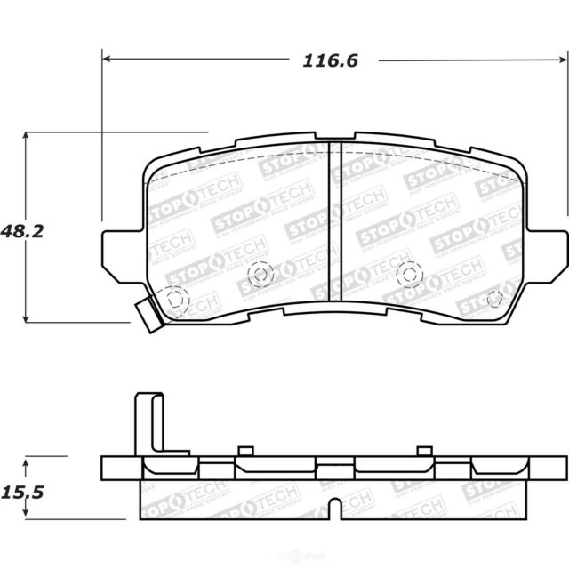 Disc Brake Pad Set-Street Brake Pads Rear Stoptech 308