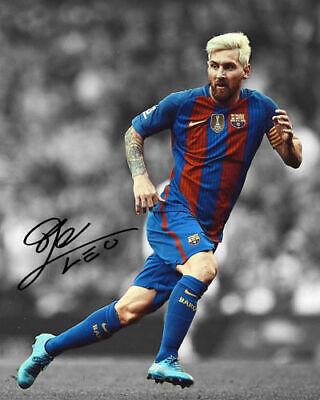 Messi 2017 : messi, Lionel, Messi, Barcelona, Captain, Signed, Photo, Autograph, Reprint