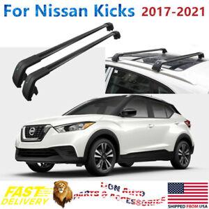 details about fit for nissan kicks 2017 2021 black roof rack baggage cross bar crossbar