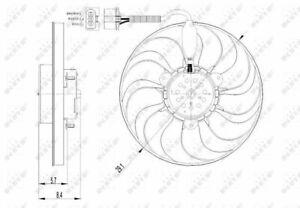 Radiator Fan 47398 NRF Cooling 1C0959455C 1J0959455M