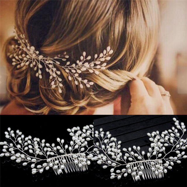 luxury vintage bride hair accessories handmade pearl wedding jewelry comb co