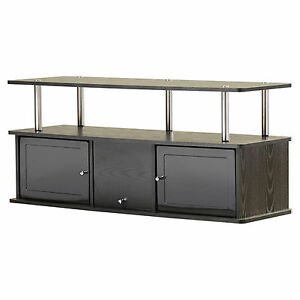 TV Stand Entertainment Center 2 Storage Cabinets Media