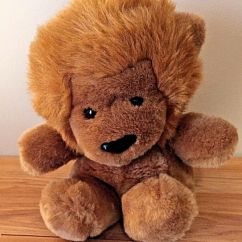 Neal Sofaworks Teddy Navy Leather Sectional Sofa Vintage Gund 10 Roarry Lion 1979 Soft Plush Seated