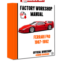 official workshop manual service repair ferrari f40 1987 1992 ebay receptacle wiring ferrari car manuals wiring diagrams pdf [ 1200 x 1500 Pixel ]