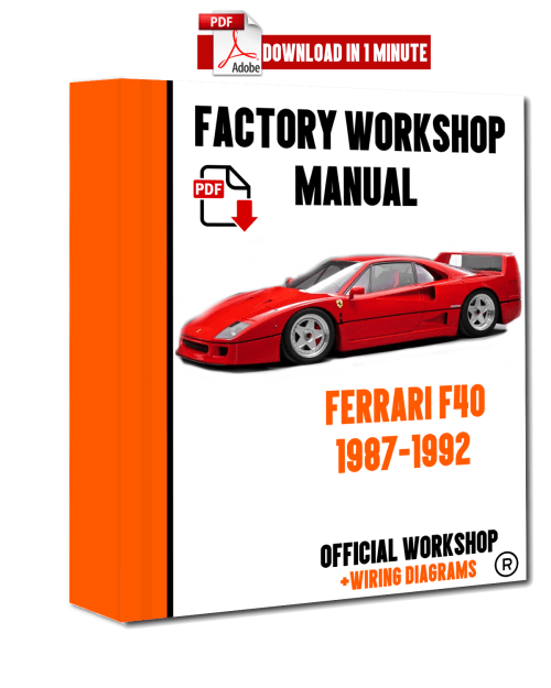small resolution of official workshop manual service repair ferrari f40 1987 1992 ebay receptacle wiring ferrari car manuals wiring diagrams pdf