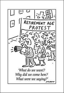 Retirement Age Protest Funny Matt Greeting Card Blank