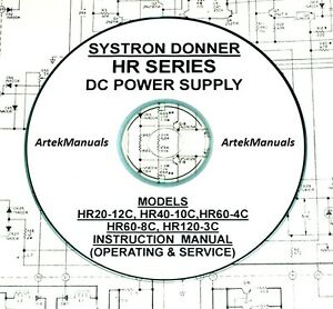 Systron Donner HR series Power Supplies Operating