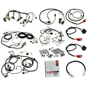 1968 Mustang Wiring Kit Small Block V8, with Tach, w/o Fog