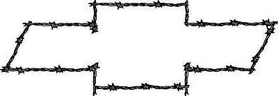 LARGE Chevy Bowtie Barbed Wire Theme Vinyl Decal Your