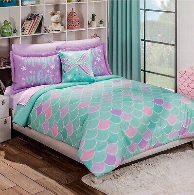 scales teens kids girls reversible comforter set 4 pcs full size ebay