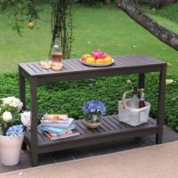 Outdoor Console Table Buffet Patio Garden Wood Gray ...