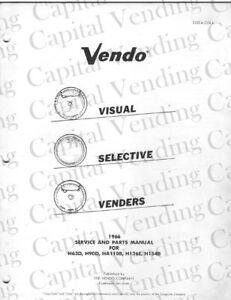 Vendo service and parts manual for H63D,H90D,HA110B,H126E