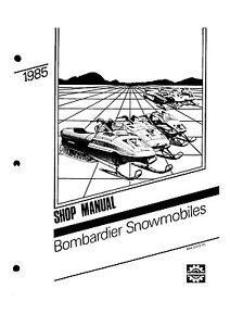Bombardier service shop manual 1985 SAFARI GRAND LUXE LC