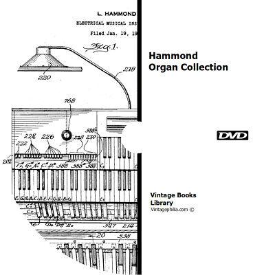* 22 HAMMOND ORGAN MANUALS BROCHURES BOOKS on DVD REPAIR