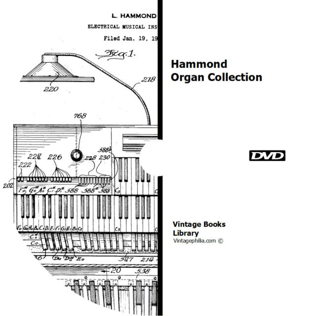 * 22 HAMMOND ORGAN MANUALS BROCHURES BOOKS on DVD REPAIR