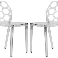 Clear Dining Chair Patio Chairs Target Dynamic Modern Acrylic In Set Of 2 Ebay