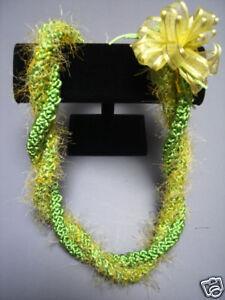 Eyelash Lei : eyelash, Hawaiian, Rattail, Eyelash, Crochet, Yellow