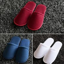 5 10 20 Pairs Towelling Hotel Slippers Spa Guest