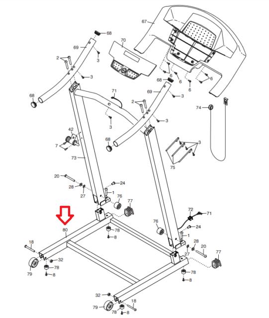 Weslo CADENCE R 5.2 G 5.9 G 5.9I Treadmill Base Frame
