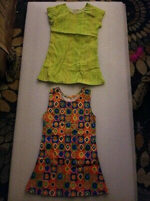 (2) Brand New Without Tags Colorful Toddler Dresses Size 2T By Kiwi Kids   eBay