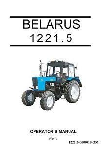 2013 Belarus 1221 Tractor Operator Lubrication Maintenance