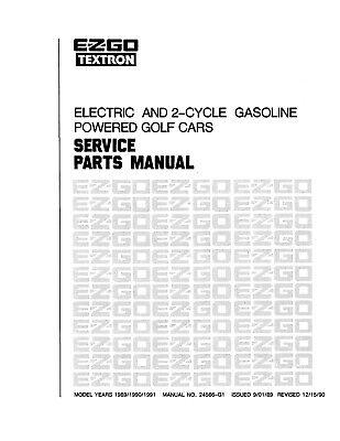 1989-1991 2-Cycle Gas & Electric E-Z-GO Golf Cart Service