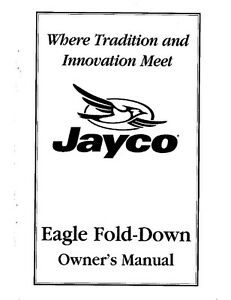 Jayco Fold-Down Pop-Up Tent Trailer Owners Manual- 1998