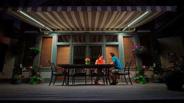 sunsetter awning dimming led lights for