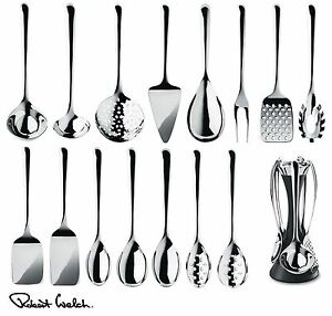 kitchen tool set cabinets ebay robert welch signature utensils spoon turner or server image is loading