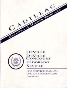 1995 Deville Eldorado Seville Shop Service Repair Manual